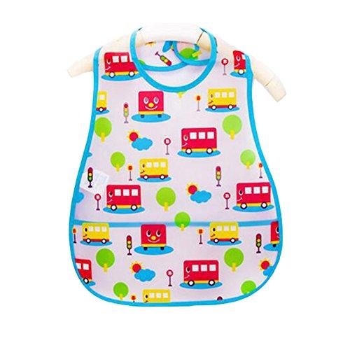 Weich-PVC, EVA-Baby wasserdichte Lätzchen für 1-3 Jahre Baby rot Bus