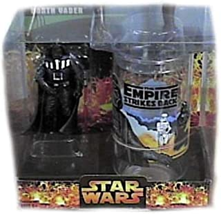 Star Wars The Empire Strikes Back Target Exclusive Darth Vader Collector's Glass with Special 3 3/4 Inch Action Figure