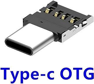 MachinYeser Adaptador de Conector USB a Tipo C OTG Convertidor USB 2.0 multifunción Hembra a Macho para computadora portátil PC de Escritorio Teléfono Inteligente (Color: Plateado y Negro)
