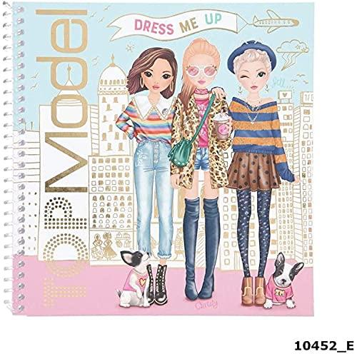 Depesche 10452 TOPModel - Dress Me Up Stickerbuch, Mal- und Stickerheft für junge Fashion-Designer, mit 24 Seiten und zahlreichen Sticker, ca. 18 x 17,5 x 1 cm
