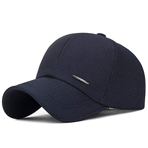 Cap Summer Herren Casual Breathable Baseball CapsKleidung Plaid Stoff Komfortable Outdoor Sonnenschutz Sonnenhut Verstellbare Größe Hc003-20-02