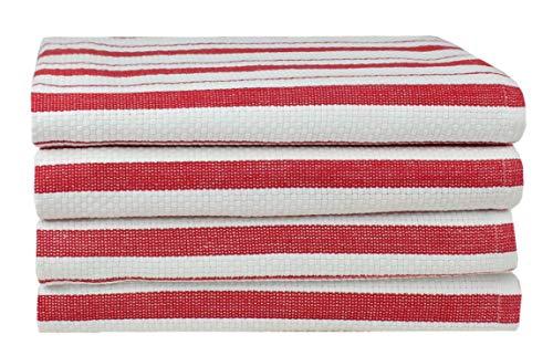 Cotton Craft – 4 paños de cocina de gran tamaño, 50 x 76 cm aprox.,...