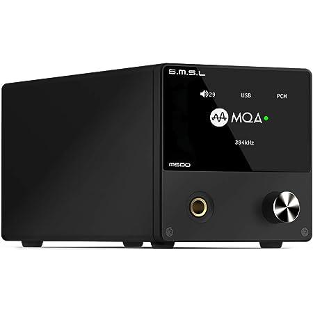 S.M.S.L M500 DAC ヘッドホンアンプ プリアンプ 一体型「ES9038PRO」内蔵/MQA・ハイレゾ・DSD音源対応/高出力電流ヘッドホンアンプ搭載 USB DAC (ブラック)