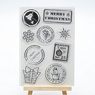 Welcome to Joyful Home 1pc X-mas Flower Rubber Clear Stamp for Card Making Decoration and Scrapbooking