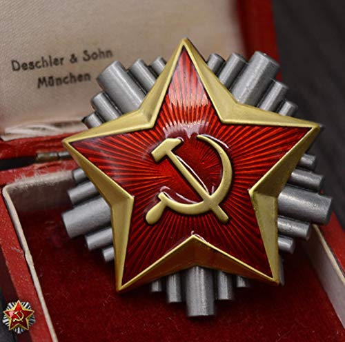 ZHAQU WWII Soviet Union Red Star Yugoslav Republic Venus Guards Officer Cap Metal Badge Brooch Pin Medal For Clothes Uniform Package