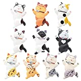10 Pezzi Figurine Gatto, BKJJ Mini Cat Dolls, Figurine Gatti Realistici, Easter Eggs Filler Cake Topper Regalo Compleanno Di Natale per Bambini Dei Dolls Figure Collection Playset