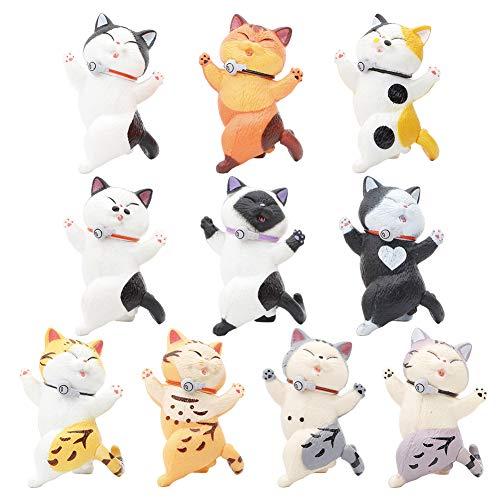10PCS Figuras de Gatos Realistas, BKJJ Set de Figuras de Gatitos, Niños Realistas Gato Figura, Ornamento Decoraciones Gato Chica Figuras Gato Modelo Lindo Ornamentos