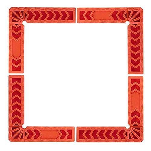 """Cuadrados de posicionamiento 90 grados 4\"""", 4 pz. Regla de plástico con ángulo recto de 90 grados Herramienta de carpintería de 4 pulgadas Soporte de ángulo del localizador auxiliar"""