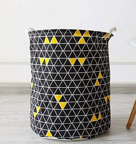 YXDEW Cestas Gran Formas geométricas de Tela de lavandería Cesto almacenaje de la Ropa a casa Ropa Barril Barriles Bolsas niños de Juguete de Almacenamiento Organizador (Color : 3)