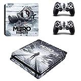 FENGLING Metro Exodus Ps4 Slim Skin Sticker per Playstation 4 Console e 2 Controller Ps4 Slim Skin Sticker Decal Vinile