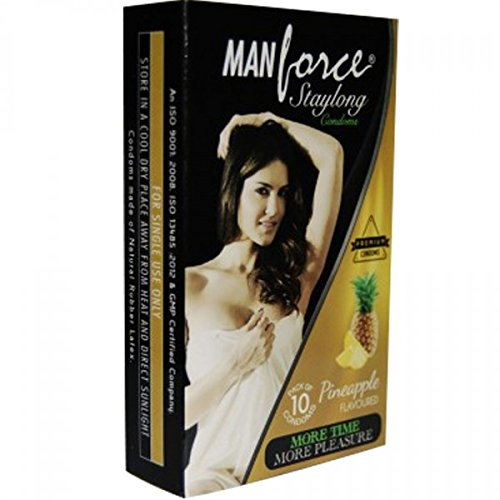 Man Force More Long Lasting Extra Dotted Condoms - 10 Condoms