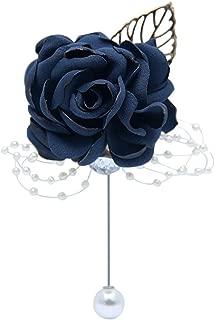 Prom Boutonniere Graduation Party Boutonniere Wedding Groomsmen Suit Dress Accessories (Navy Blue)