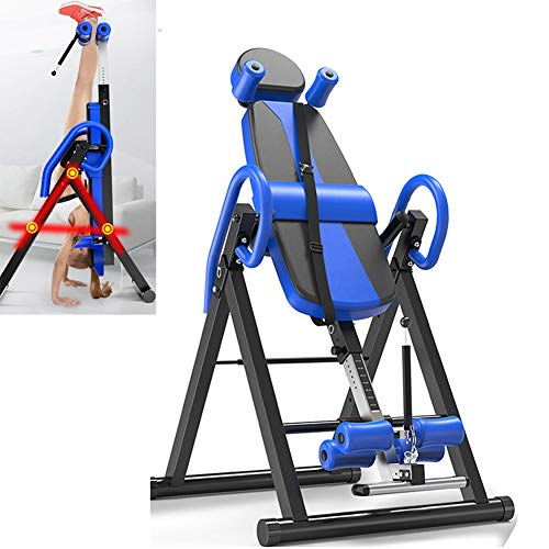 Buy Starsmyy Inversion Table Gravity Trainer Table Foldable Therapy Bench Home Gym Fitness Training ...