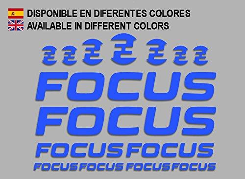 Ecoshirt 7S-2TZ2-JUZ6 Pegatinas Focus F192 Stickers Aufkleber Decals Adesivi MTB Cicle Bike, Azul