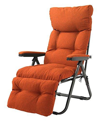 リクライニングチェア フットレスト付リラックスチェア チェア リラックスチェア パーソナルチェア アームチェア 折りたたみ リクライニング フットレスト コンパクト イス 椅子 オットマン 背もたれ ハイバック (オレンジ)