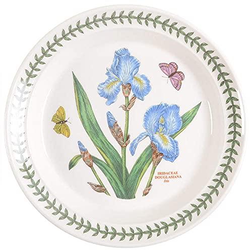 Portmeirion Botanic Garden Salad Plate, 8.5', Iris, White