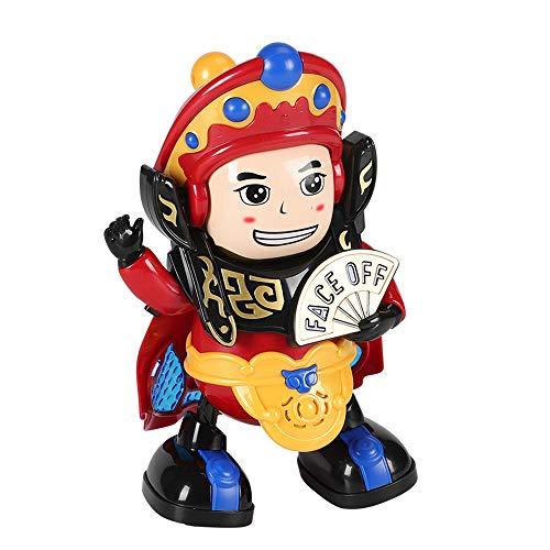 HYN Cambio de Cara Juguetes eléctricos ópera de Pekín Facebook muñecas, Cultura Tradicional China Opera, Cuatro Tipos de Cambios de Cara, Adecuado para niños Menores de Tres años.