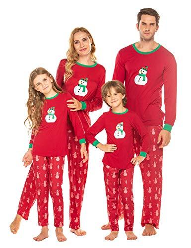 Weihnachten Pyjama Schlafanzüge Nachtwäsche Familie Weihnachts Schlafanzug Erwachsene Pyjama Set für Kinder, Jungen, Mädchen, Herren,Damen Sleepwear Set, Rot, kinder-110