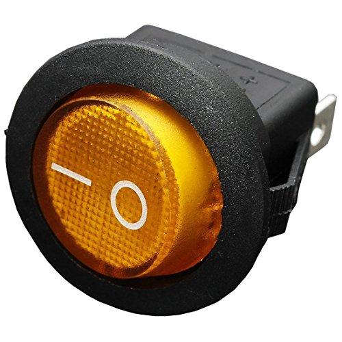 Ctzrzyt 12V 16A LED Interruptor basculante Bipolar ON/Off SPST para Auto Moto Barco - Amarillo