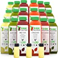 RAW Fountain 3 Day Juice Cleanse, 100% Natural Raw, Cold Pressed Fruit & Vegetable Juices, Detox Cleanse Weight Loss, 18 Bottles, 16oz +3 Ginger Shots