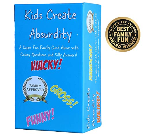 Kids Create Absurdity: Warning: May Cause Belly Laughter! A Family-Card-Game For Kids With Funny Questions and Hilarious Answers Fun For Kids, Adults Teens and Tweens Great Christmas Stocking Stuffer!