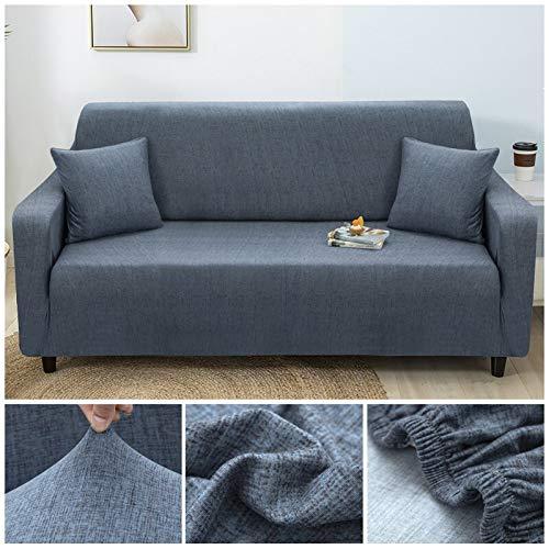 WXQY Fundas elásticas con Tiras Cruzadas Fundas elásticas Totalmente envolventes Funda de sofá Antipolvo Funda de sofá Funda de sillón Toalla de sofá A21 4 plazas