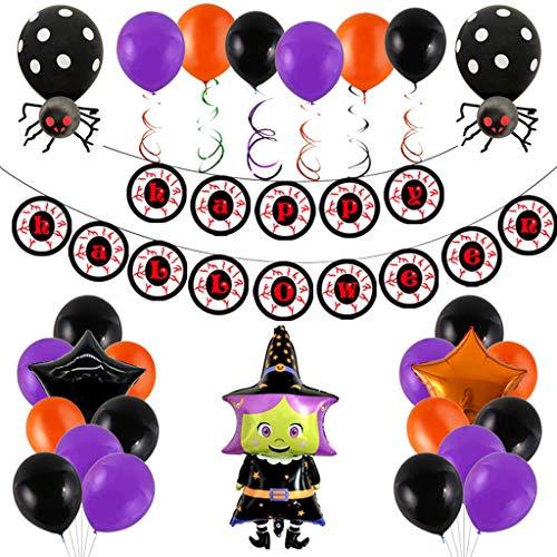 MXH Halloween-Ballon-Anzug Horror Augen Charm Halloween Dekoration Supplies,E