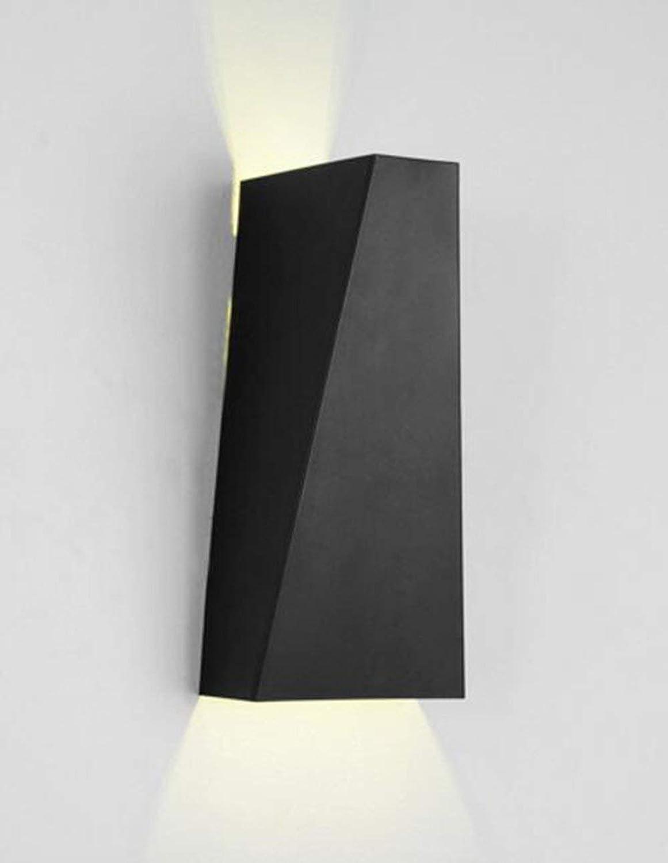 HhGold LED Eisen Lampe Wand Die Schlafzimmer Korridor Beleuchtung Kreative Spaziergang Nacht Tischlampe (Weie Farbe) Persnlichkeit (Farbe   Schwarz)