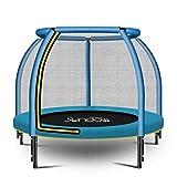 Gartentrampoline Indoor-Sprungbett für inländische Kinder Kinder mit springendem Trampolin der Sorgfaltnetzfamilie Eltern-Kind-Interaktionsspiel Kann 200kg tragen