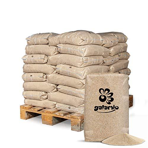 GALAMIO Quarzsand Sand Spielsand Sandkasten Dekosand Filtersand 0,2-2,0mm 25kg x 40 Sack 1.000kg / 1 Palette Paligo