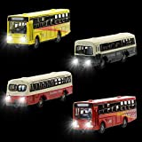 EBS15002 4pcs 1:150 Model Lighted Cars Bus with 12V LED Lights for Building Layout Diecast New