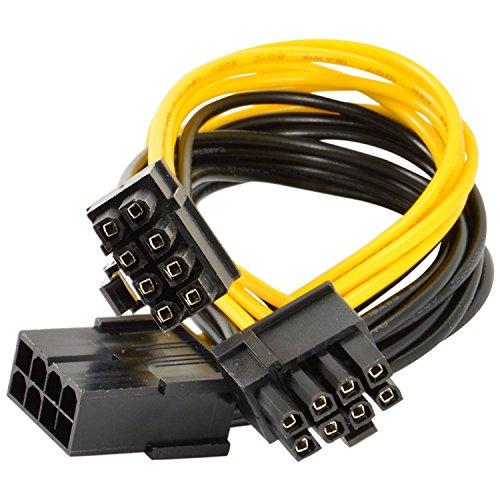 Xhwykzz GPU 8-polig PCI-E bis 2 PCI-E 8-polig (6-polig + 2-polig) Stromkabel, für Grafikkarte GPU Molex BTC Miner(1 Stück 30 cm)