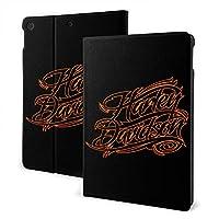 "IPad 7th 10.2"" Harley-Davidson ハーレーダビッドソン iPad 10.2/10.5 ケース 薄型 軽量 傷防止 二つ折りスタンド スマートケース Apple iPad オートウェイクアップ/スリープ機能"
