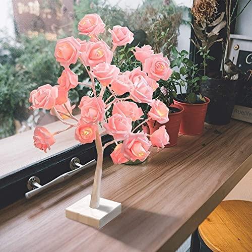 Abletop Tree Light LED, DIY Decoración de la lámpara de árbol de luz artificial para el regalo Home Wedding Festival Holiday (Batería / Usb Operado) ( Color : 32 Led Warm Rose Lights Tree Lamp )