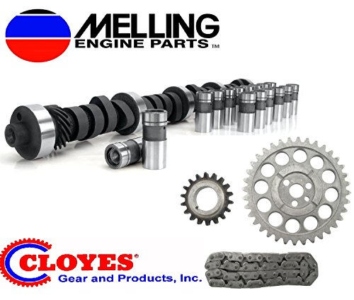 Stock Cam & Lifter Kit with 3pc Timing compatible with 1969-1980 Chevy Chevrolet 350 Small Block (Stock Replacement)