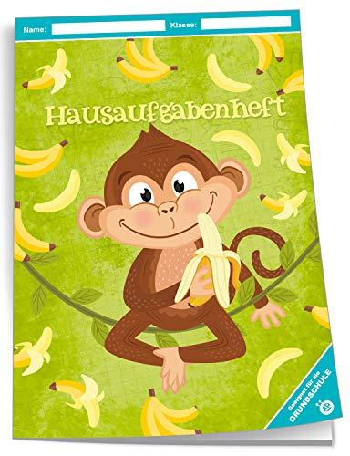 Trötsch Hausaufgabenheft Grundschule Affe: A5, 96 Seiten, mit extra starkem Klarsichtumschlag
