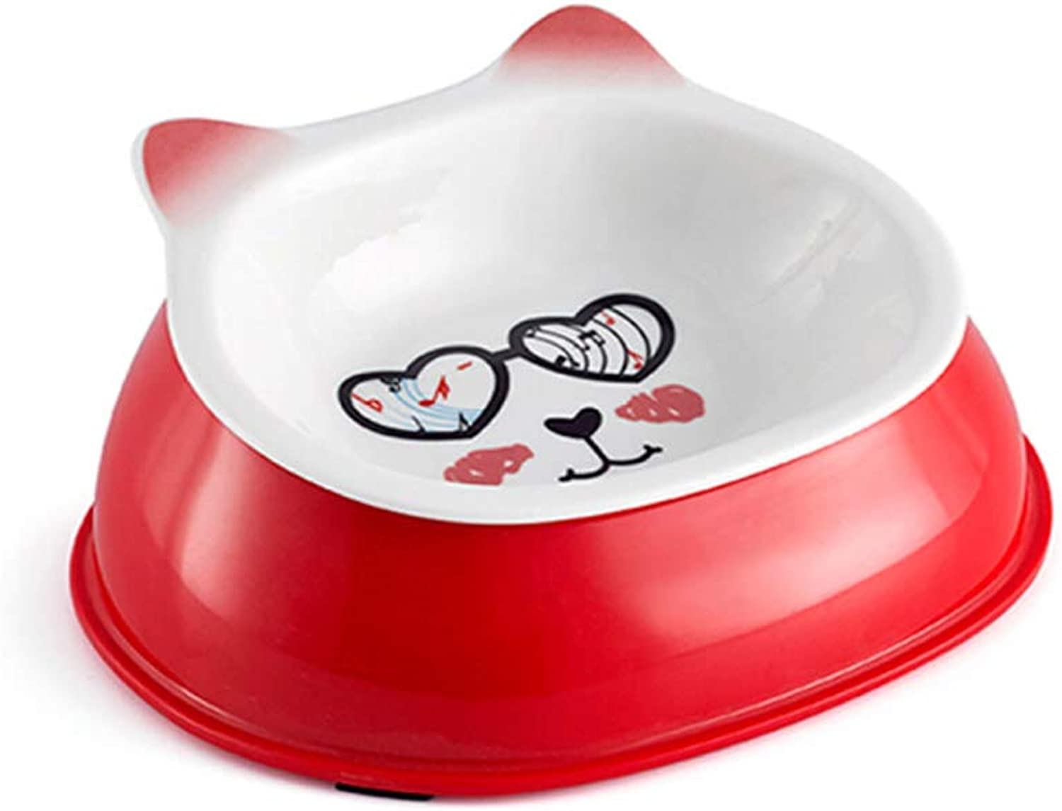 Haoyushangmao Cat Bowl, Cat Food Bowl, Dog Food Bowl, Pet Supplies, Ceramic Bowl, Cat Feeder, Dog Food Bowl, Best Gift Latest Models (color   Red, Size   Small)