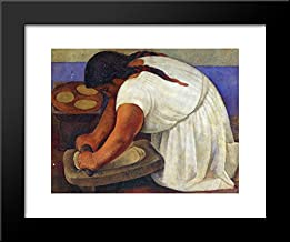 diego rivera woman grinding maize