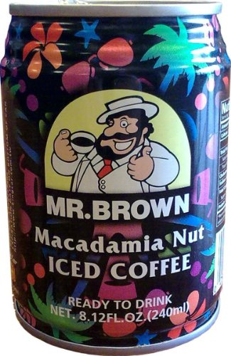 Mr. Brown Iced Coffee, Macadamia Nut, 24 - 8.12-Ounce Cans