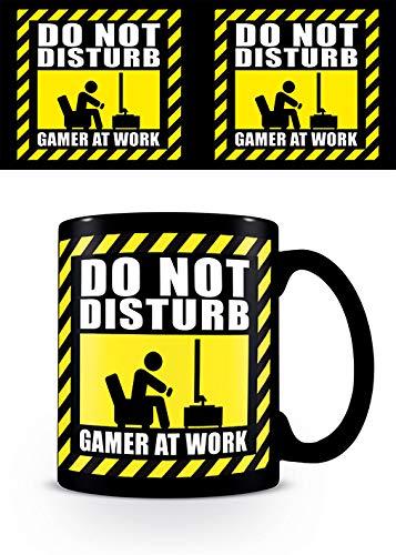 Gamer At Work MG25113 mok van keramiek, 315 ml, Gamer at Work, zwart