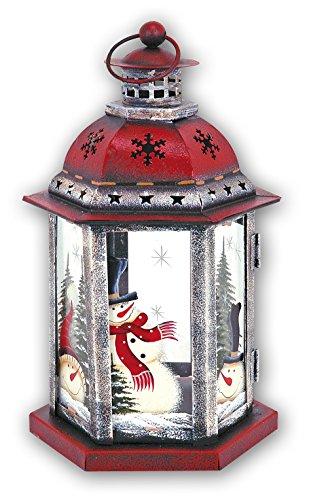 Zep S.r.l KH670 Kerst Sneeuwman Metalen Lantaarn Rood/Wit/Groen