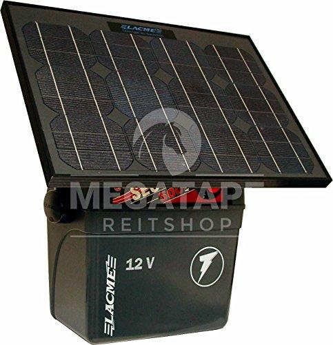 Weidezaun Batteriegerät mit Solarmodul, Lacme Sun 12V- 25W Solarmodul, 5 Joule