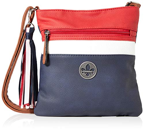 Rieker Damen Handtasche H1003, Blau (Pazifik/Bianco/Rosso), 240x10x220 cm