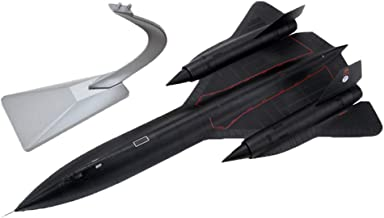 Bonarty 1/72 Alloy SR-71 Blackbird Aircraft Helicopter Diecast - Military Combat Air Plane on Stand Great Collectible Display Model