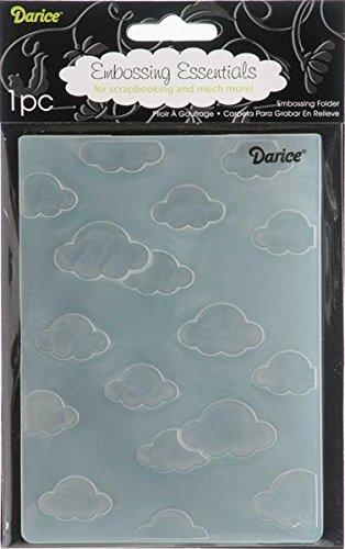 Darice sjabloon, 10,8 x 14,6 cm wolken, plastic, transparant, 10,8 x 14,6 x 0,4 cm
