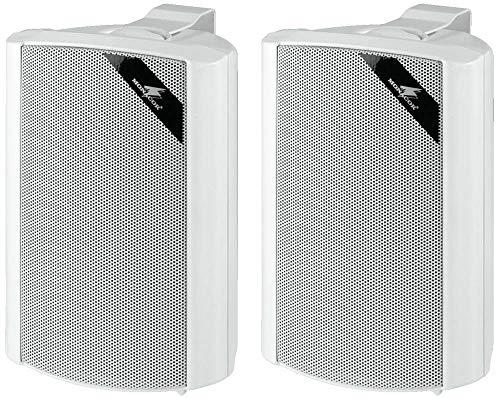 Monacor 13.1120 2-Wege-Lautsprecherboxen-Paar, weiß