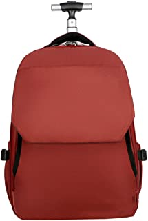 Wheeled Laptop Backpack, Rolling Carry on Luggage Business Bag with Wheels Fit 15.6 Inch Laptop