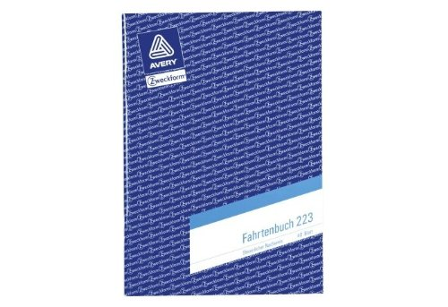 Avery Zweckform Fahrtenbuch A5, 223, 40 Blatt (Inhalt 10 Bücher)