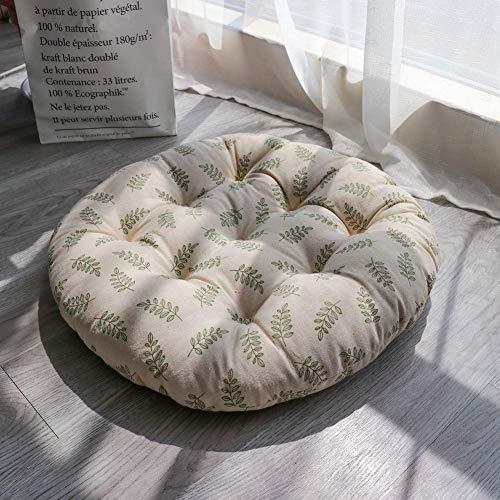 JD Bug Grote ronde zitting kussen, verdikken de zachte linnen tatami vloer kussen voor Yoga Pation Office Bistro Outdoor Auto Stoel Pads-e 60x60cm (24x24inch)