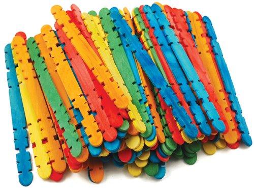 """Craft Skill Sticks Assorted Colors -4.5"""" 100/Pkg"""
